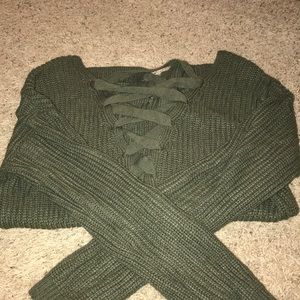 sweater lace up back